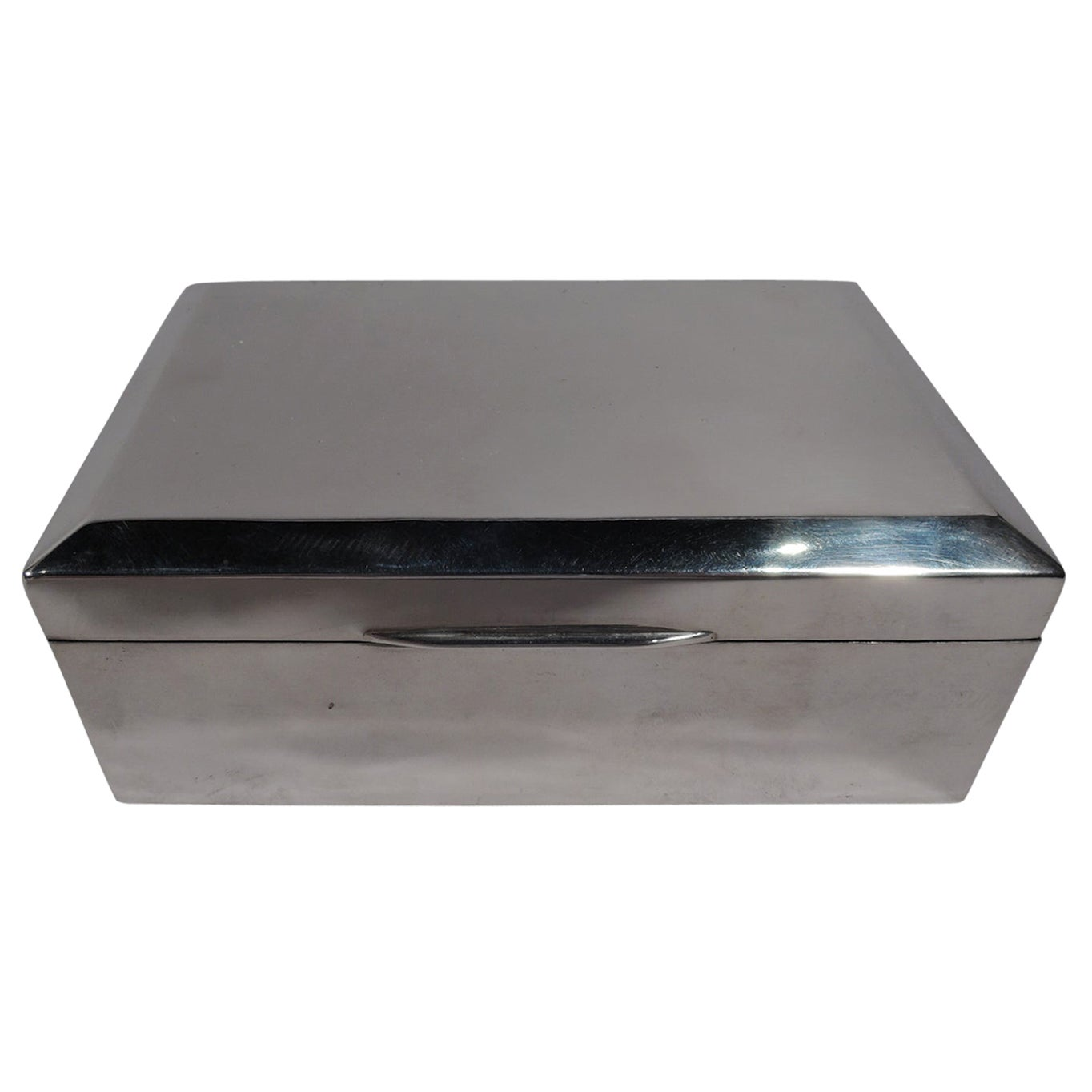 English Modern Sterling Silver Box