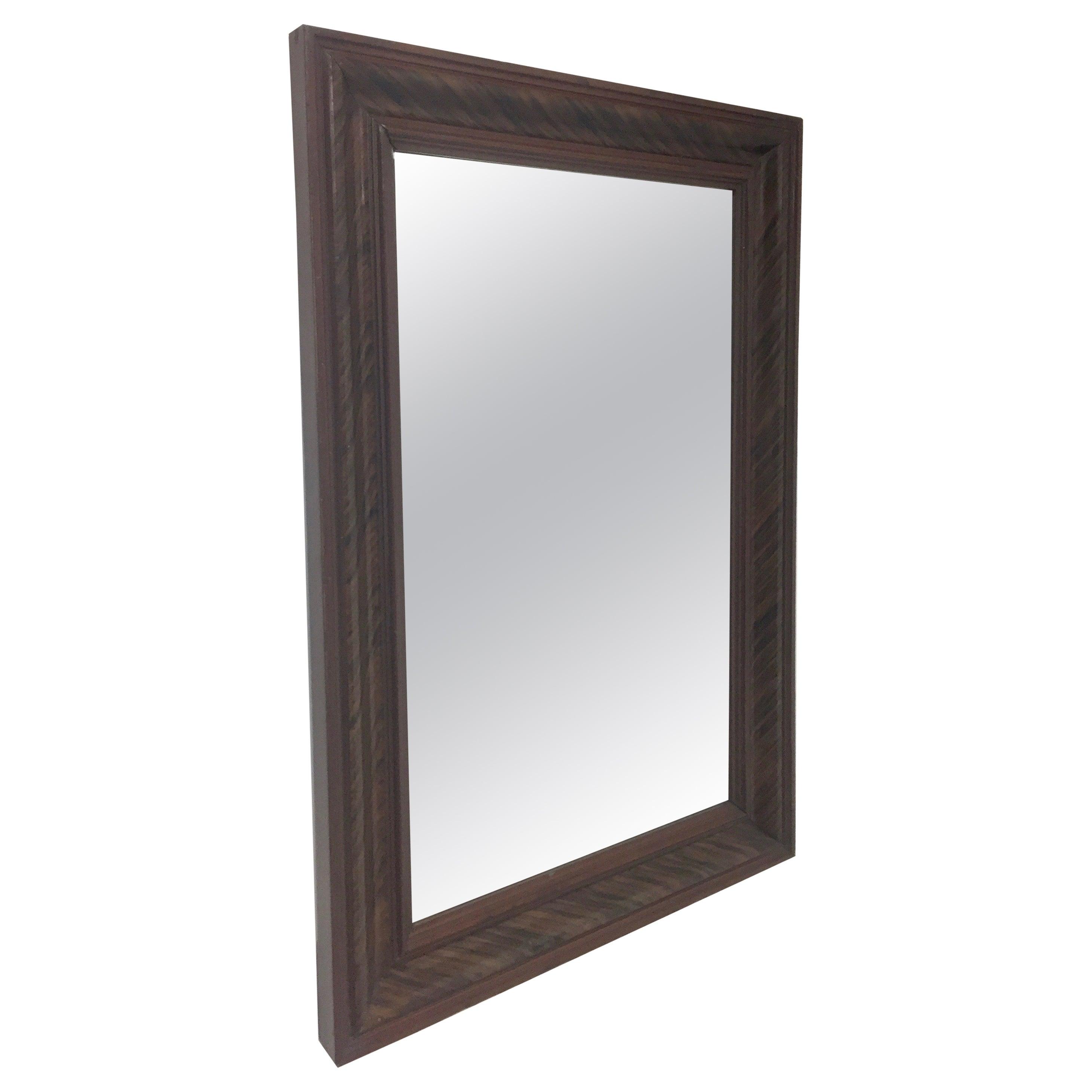 Pine Grain Painted Wall Mirror