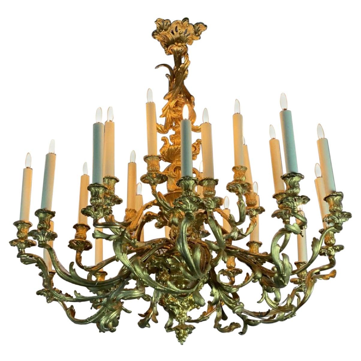 Chandelier in Gilt Bronze Louis XV Style