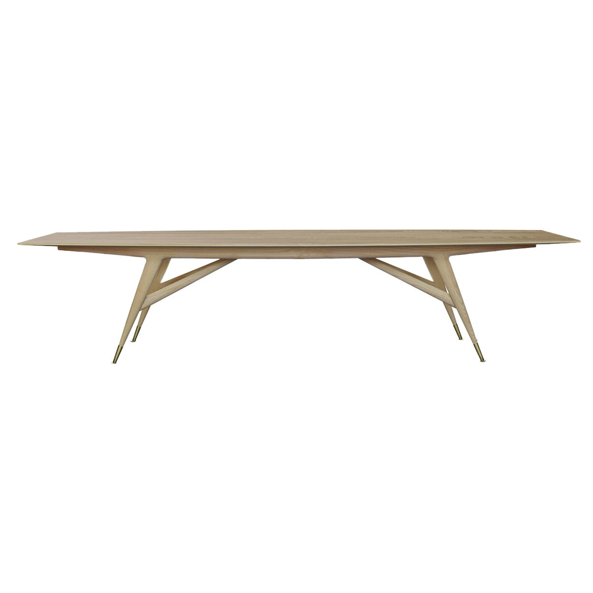Molteni&C D.859.1A Dining or Conference Table in Ash Wood by Gio Ponti