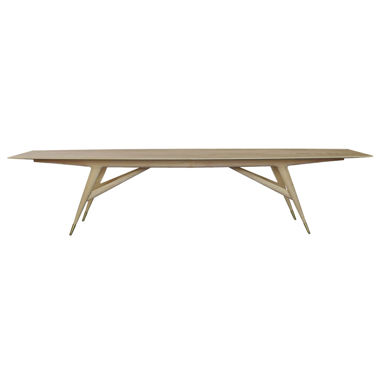 """Molteni&C D.859.1C Dining or Conference Table 142"""" in Ash Wood by Gio Ponti"""