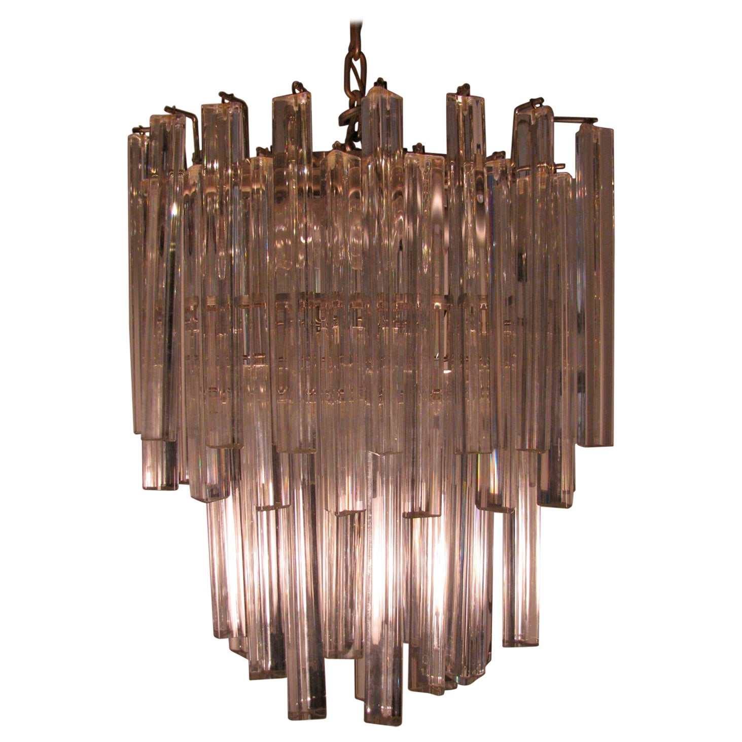 Mid-Century Modern Murano Oval Chandelier by Camer