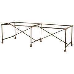Kitchen Island Made from Steel and Solid Bronze
