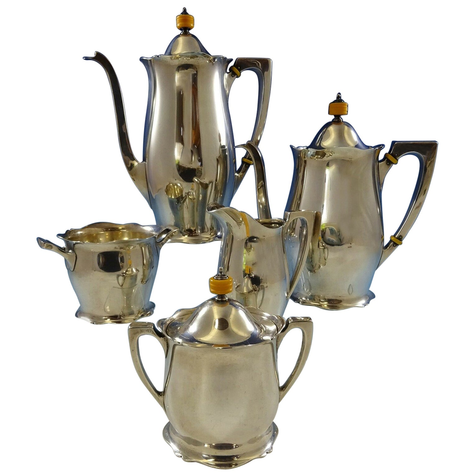 Antique by Wallace Sterling Silver Tea Set 5-Piece