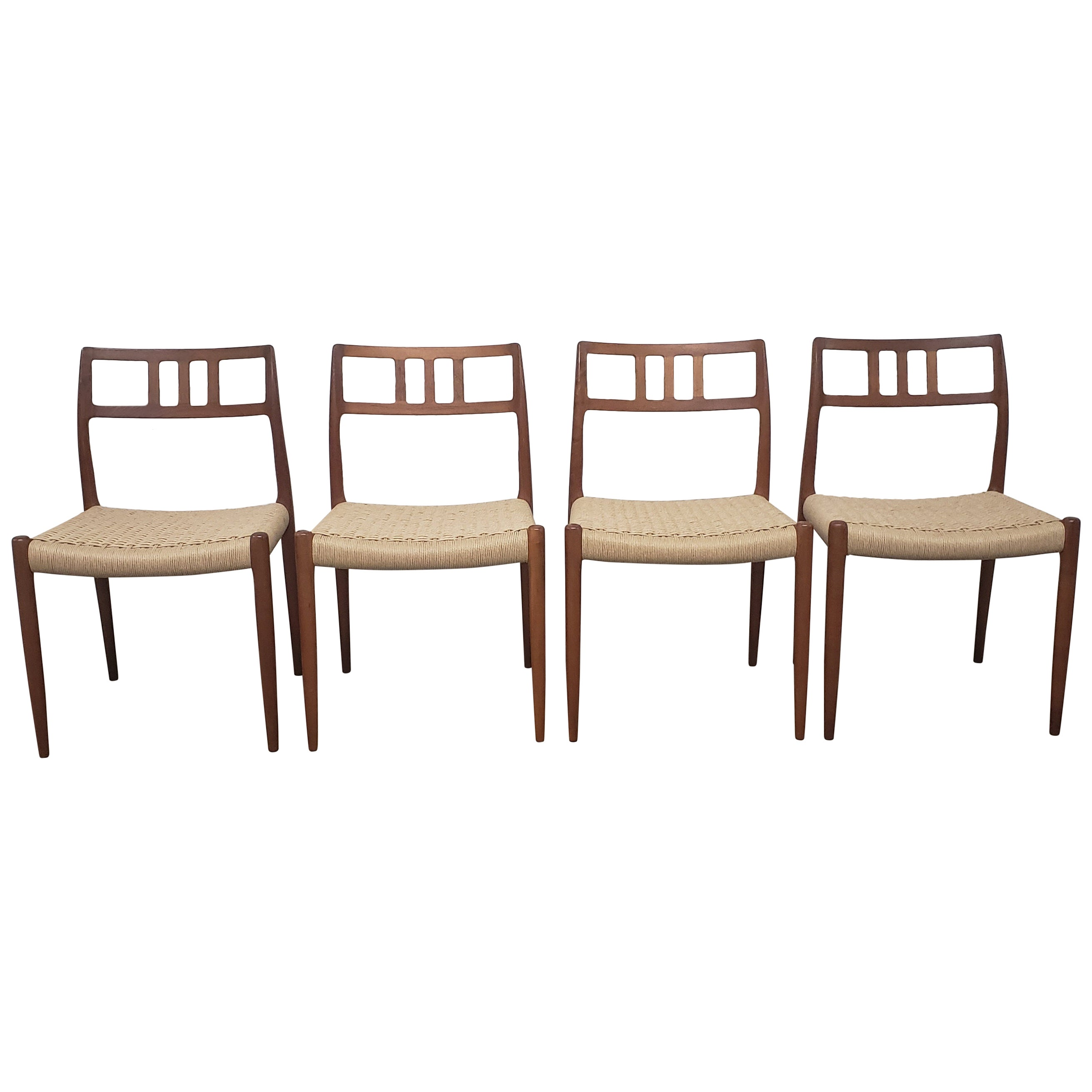 Set of Four JL Moller Side Chairs 79