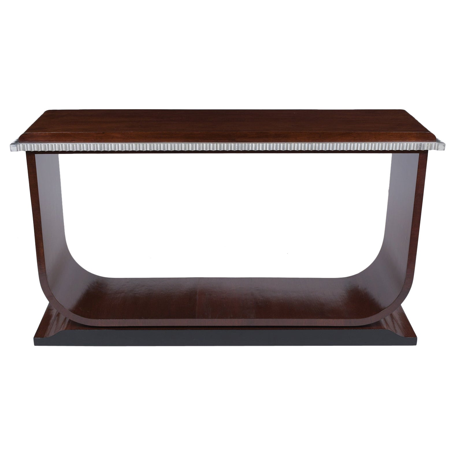 Modern Rosewood Lacquered Console