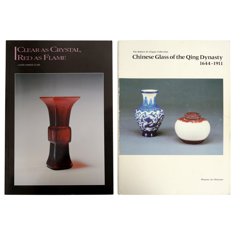 Pair of Exhibition Catalogs, Chinese Glass, Phoenix Art Museum & China Institute