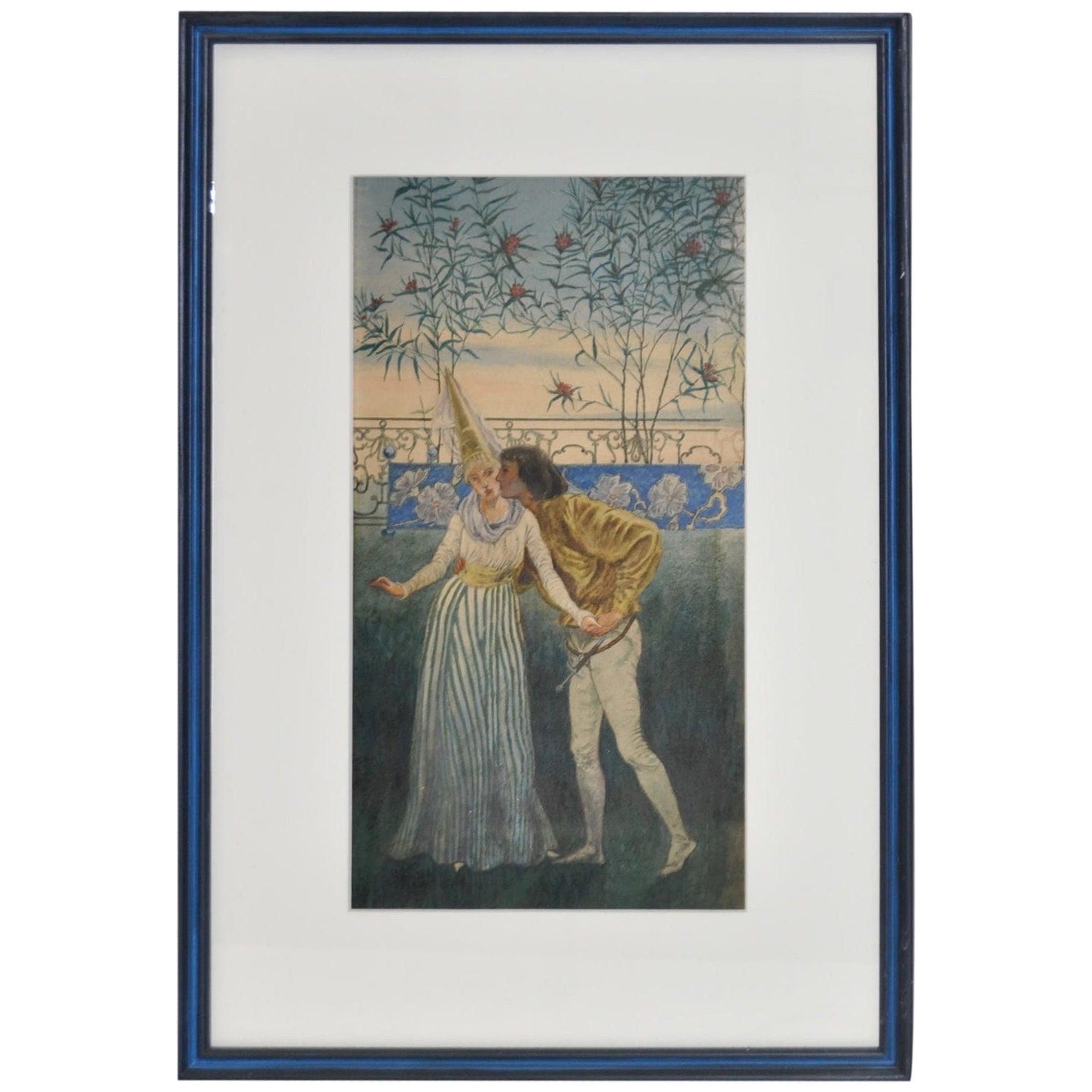 Romeo and Juliette Watercolor by Liam Watson, circa 1910
