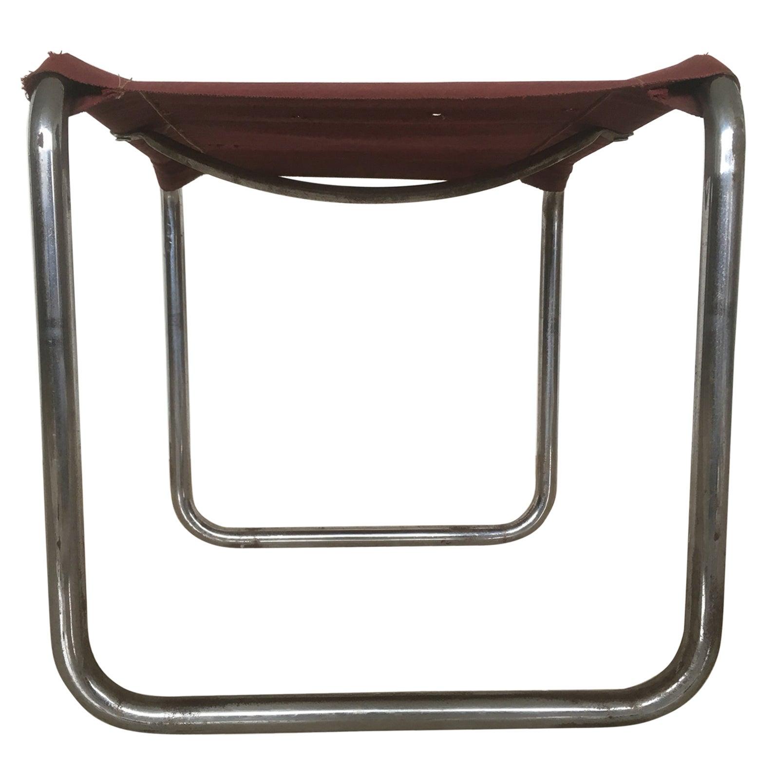 Rare Marcel Breuer Chrome Bauhaus Stool, 1930s / Thonet