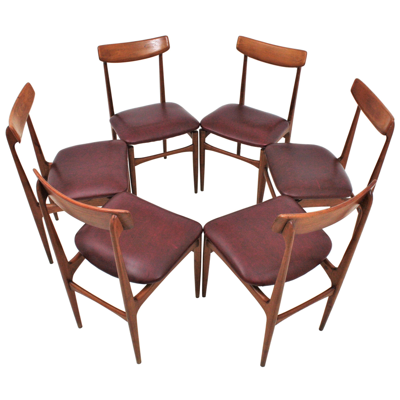 Helge Sibast Danish Modern Teak Dinning Chairs, Set of Six