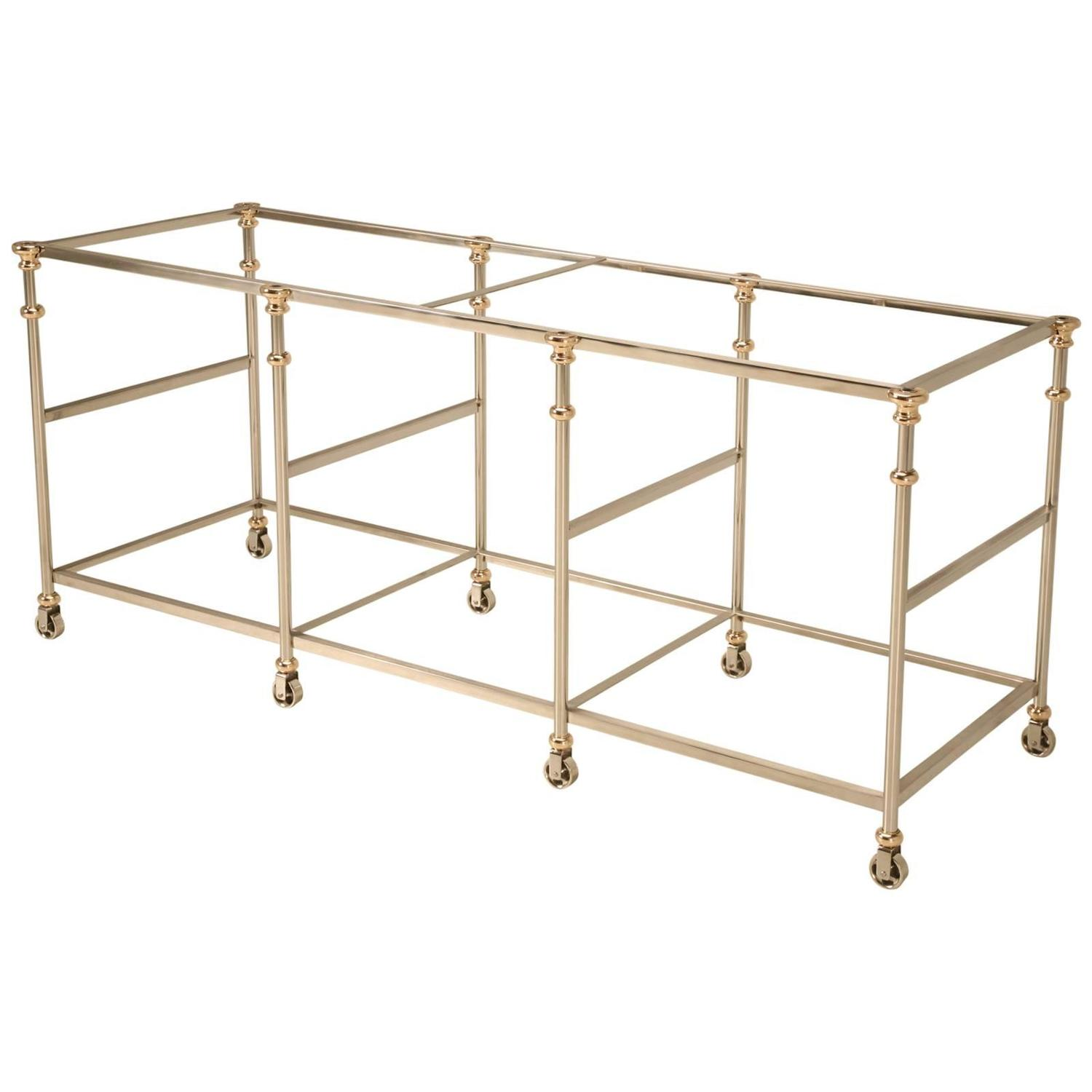 Kitchen Island Frame: Kitchen Island Frame Made From Stainless Steel And Bronze At 1stdibs