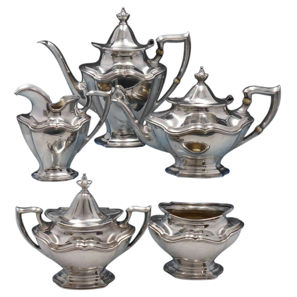 Hepplewhite by Reed and Barton Sterling Silver Tea Set 5-Piece #560