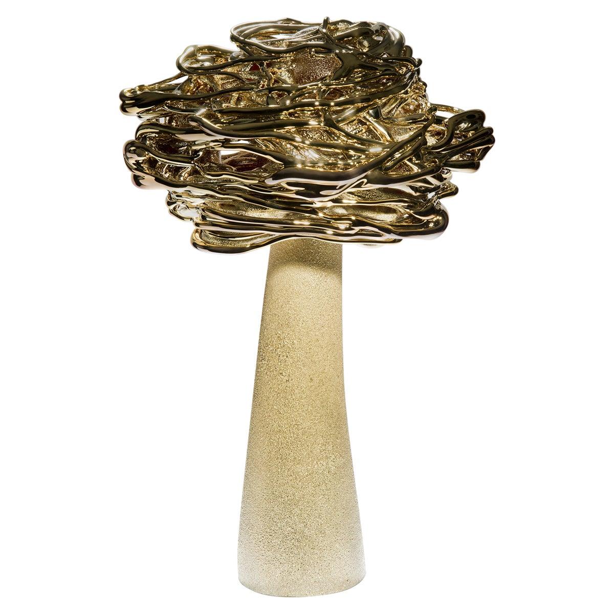 Desert Flower, a Unique Brass and Glass Sculpture by Remigijus Kriukas