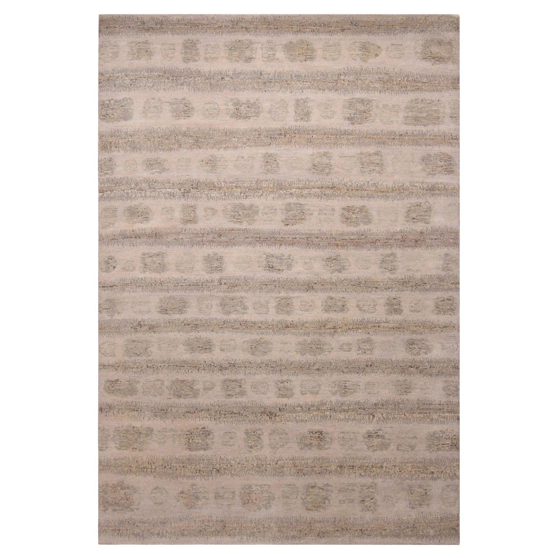 Rug & Kilim's Scandinavian Inspired Beige Brown Geometric Wool Rug