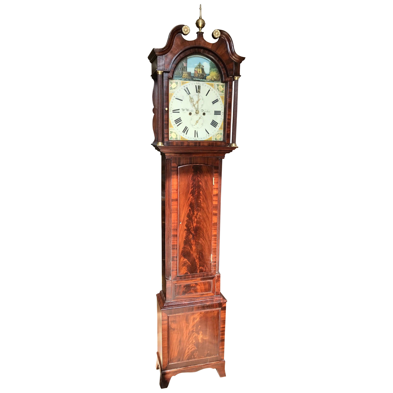 Early 19th Century George III Rocking Ship Automaton Longcase Clock