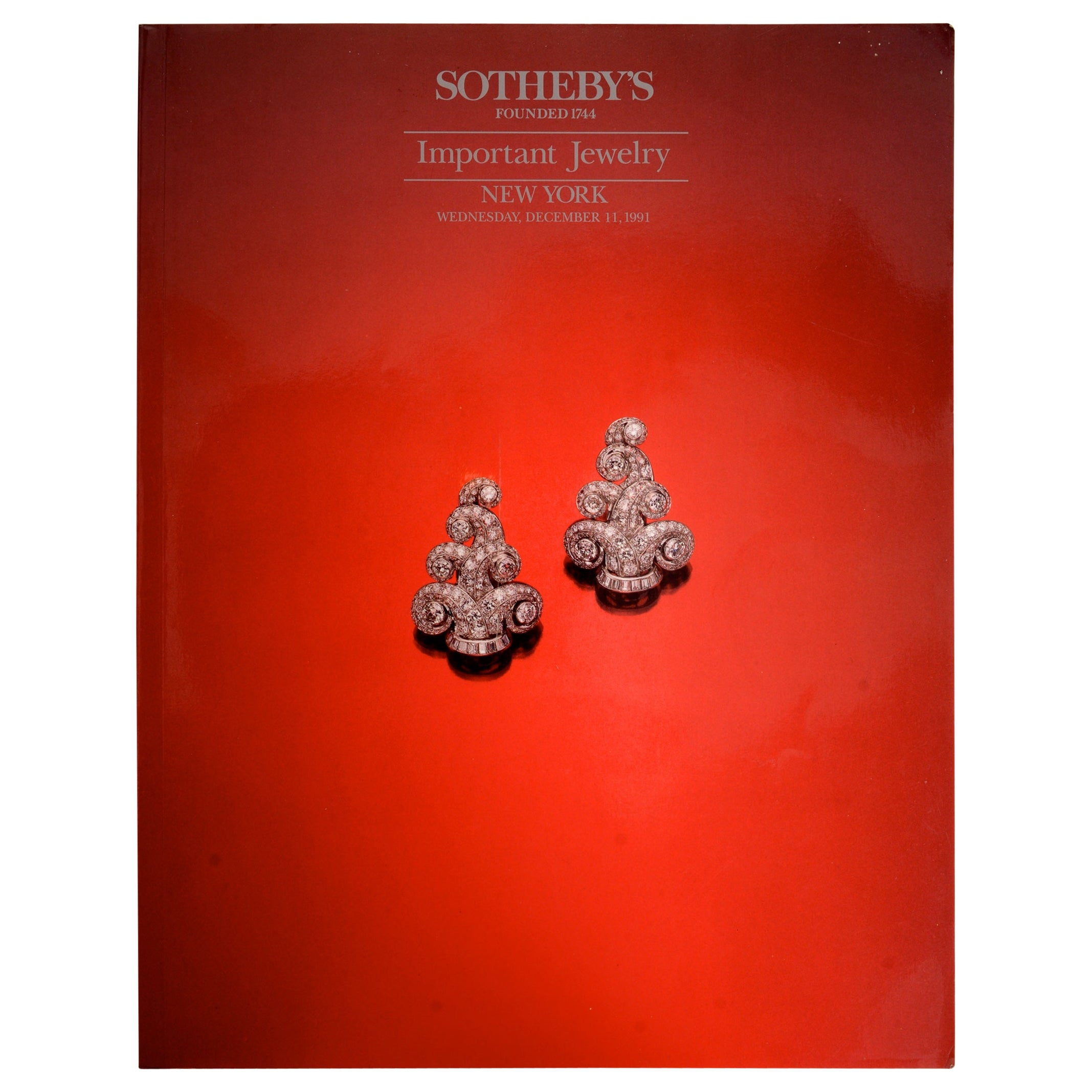 Sotheby's New York Important Jewelry 6254 December 11, 1991, First Edition