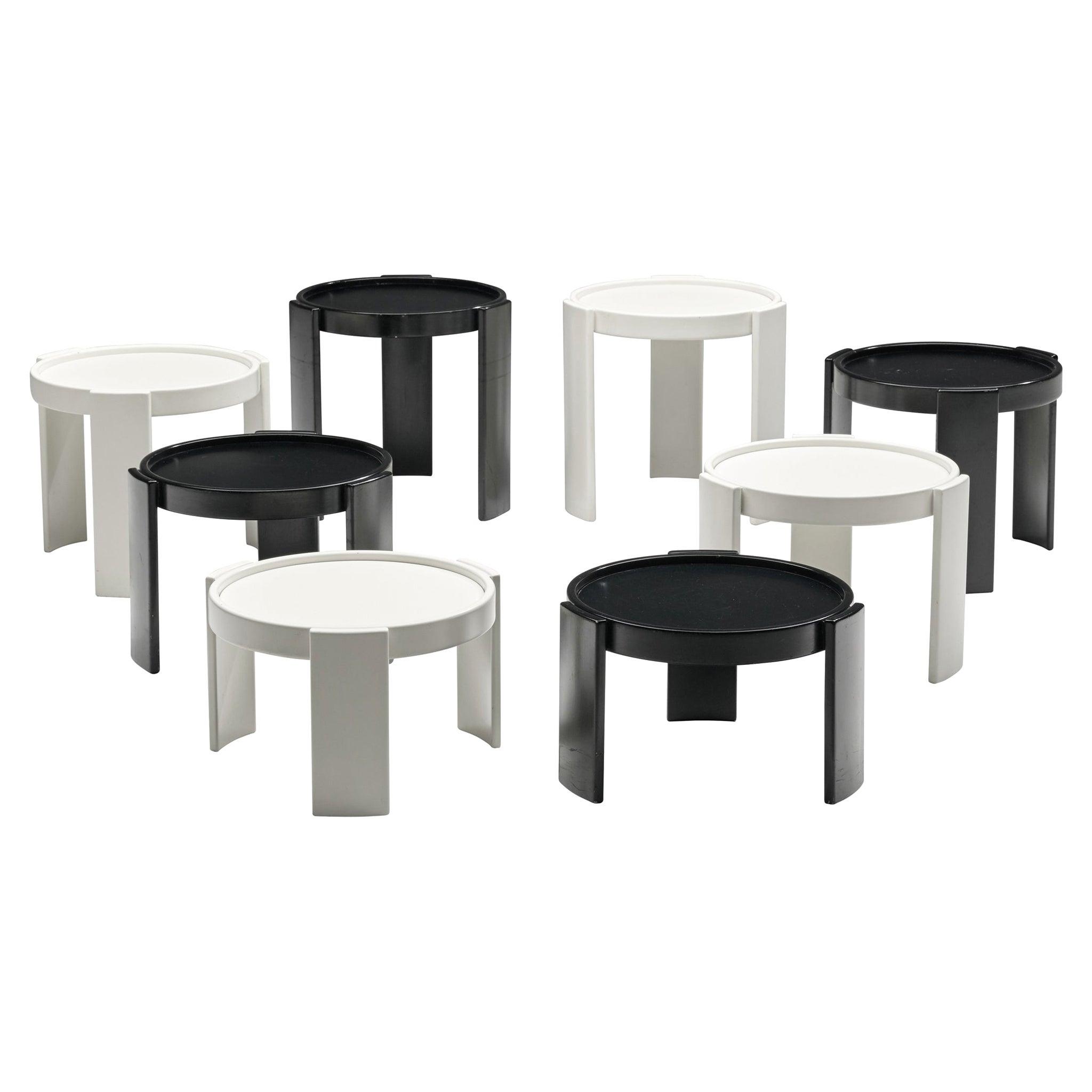 2 Sets of Gianfranco Frattini '780' Nesting Tables