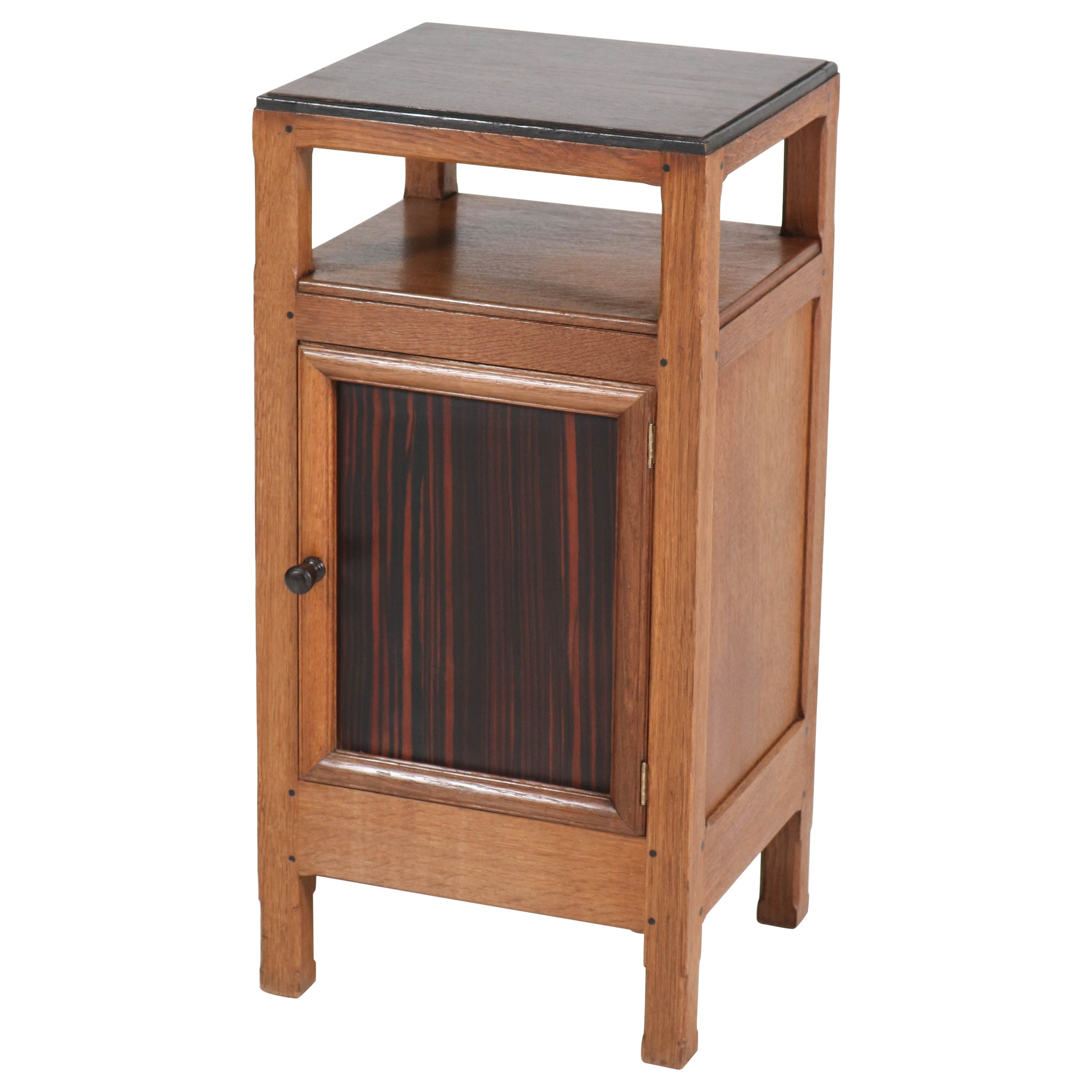 Oak Art Deco Haagse School Nightstand by Paul Bromberg for H. Pander & Zonen
