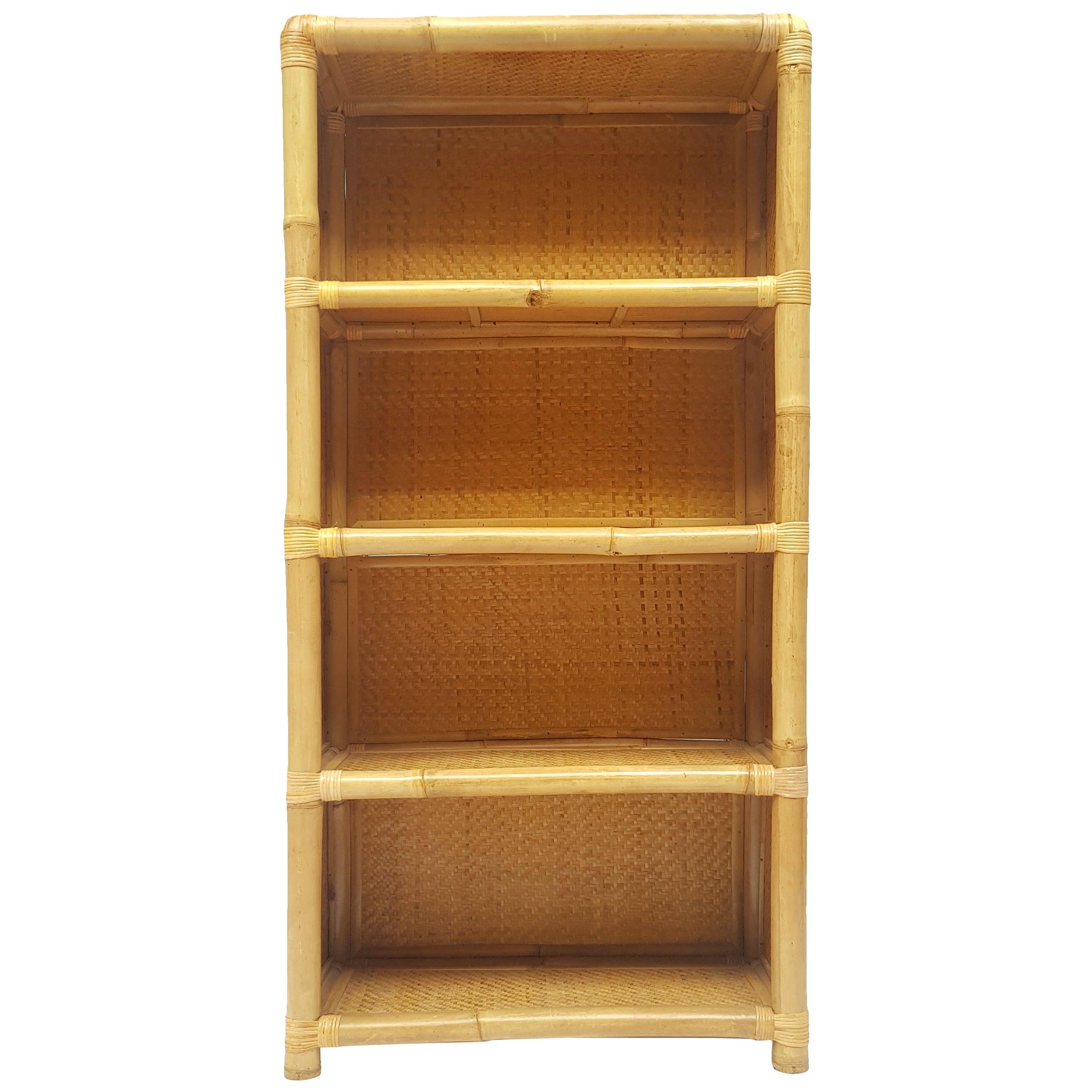 Late 20th Century Spanish Bamboo Bookcase, 1970s