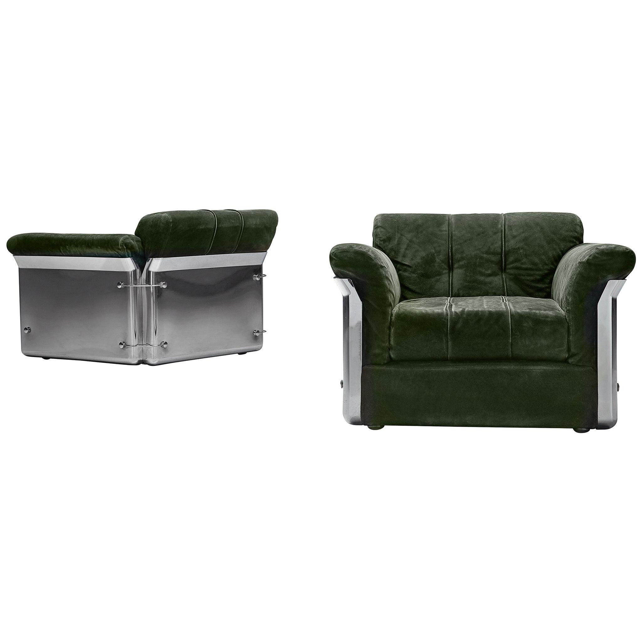 Vittorio Introini Pair of 'Larissa' Lounge Chairs