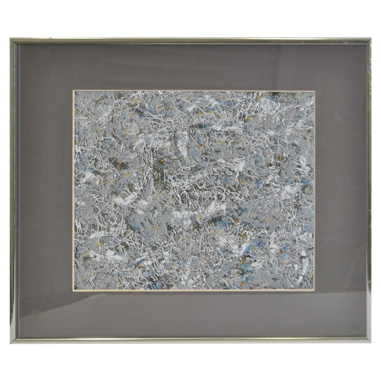 Paul Slapion, Mixed-Media Abstract Painting, circa 1985