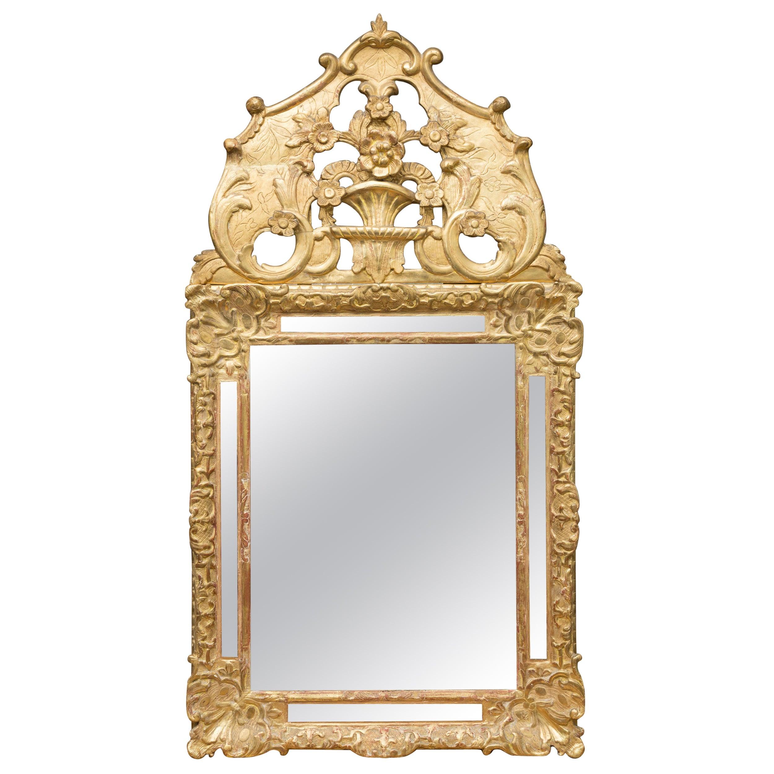 18th Century Italian Gilt Wall Mirror