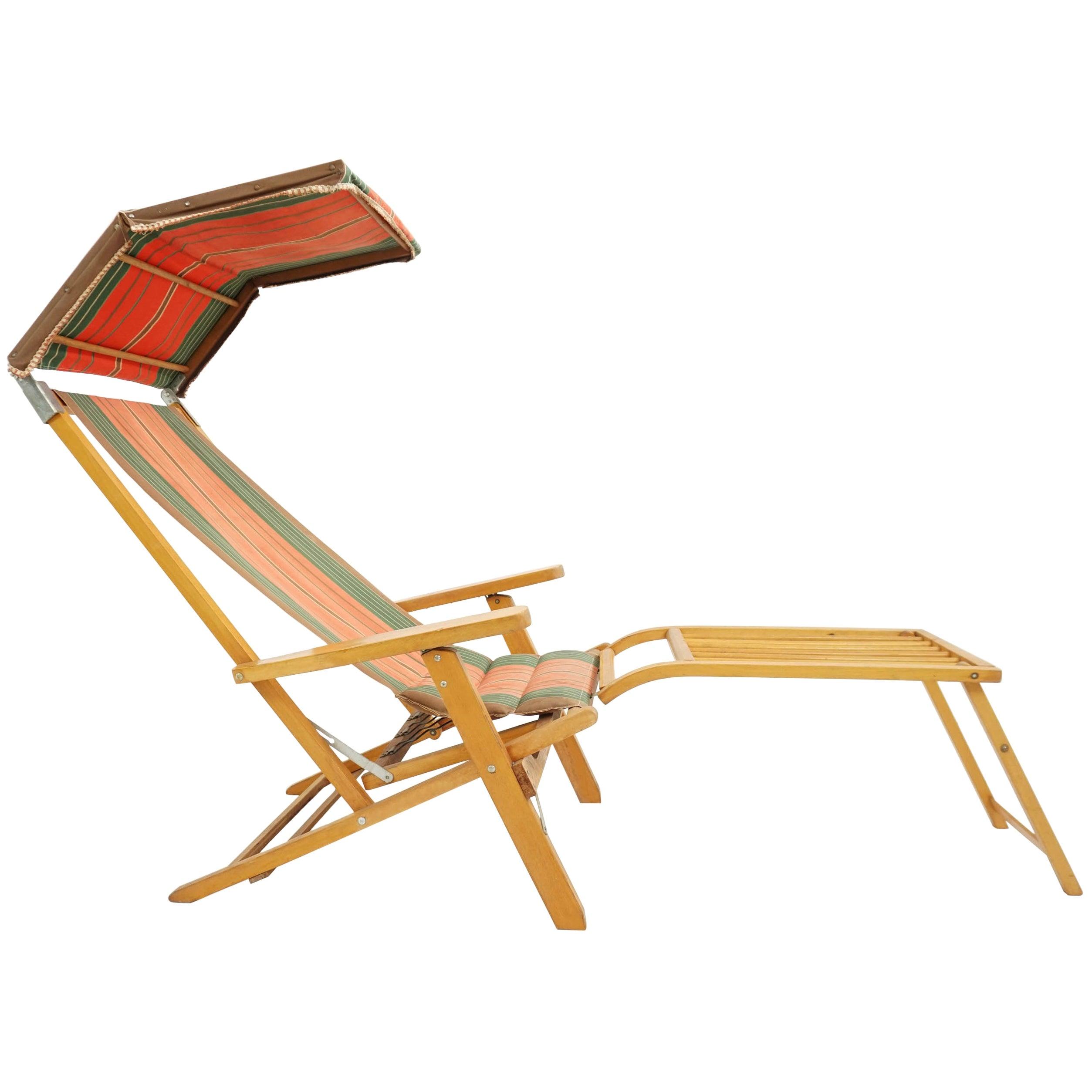 Scandinavia Traveling Outdoor Lounge Chair, Sweden 1950 Luchs