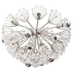 Custom Large Austrian Snowflake Crystal Flush Mount