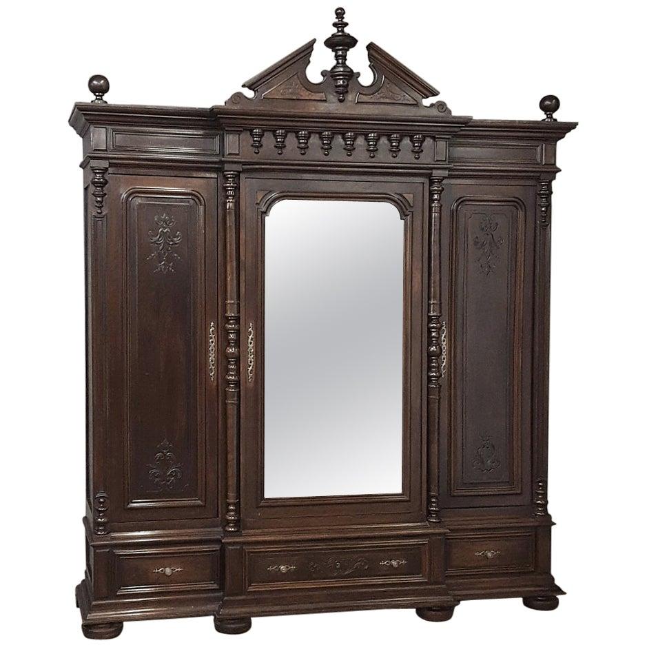 19th Century Neoclassical Revival Three-Door Armoire