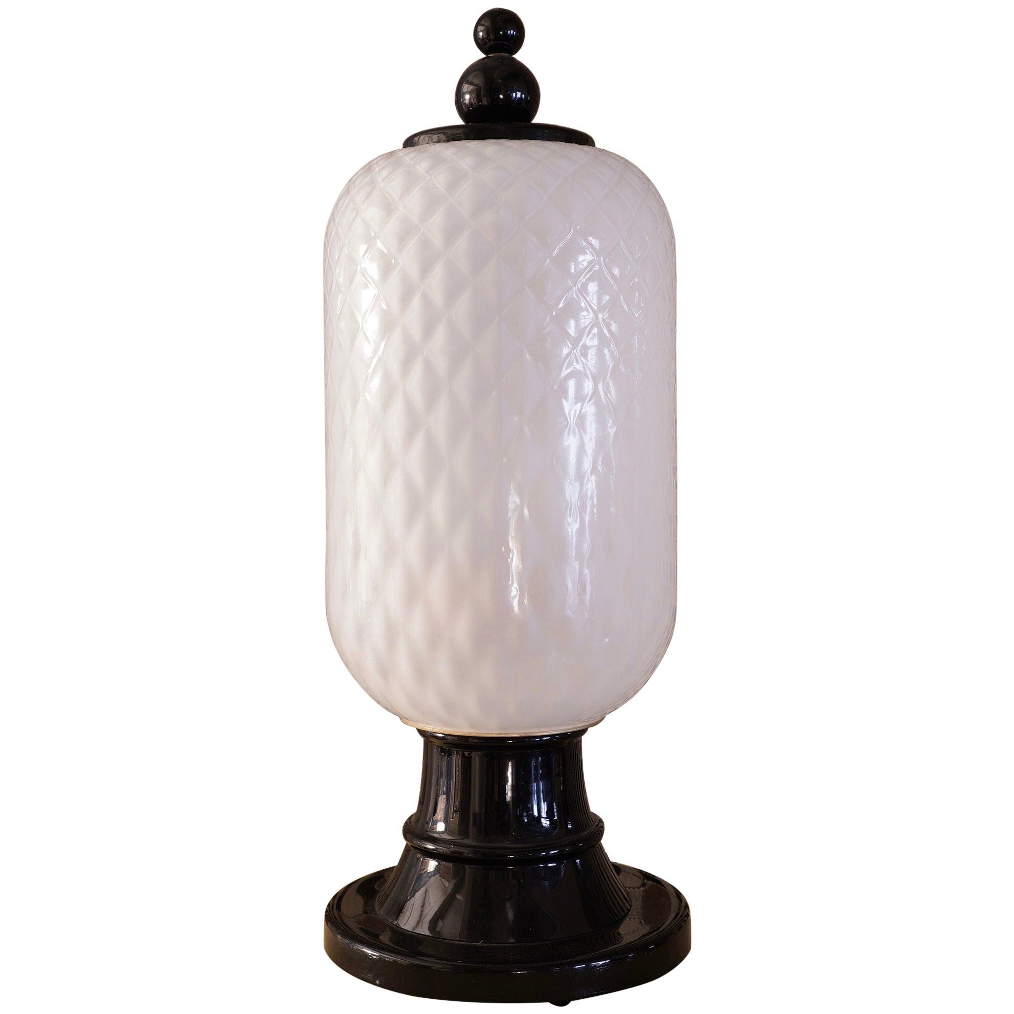 Murano Art Glass Italian Midcentury Table Lamps, 1960