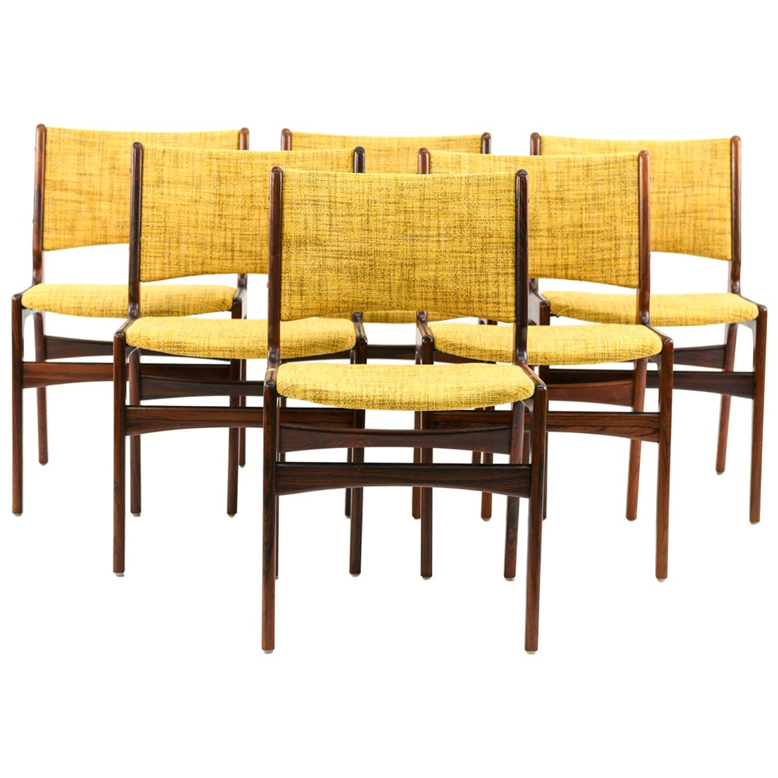 Set of Six Danish Midcentury Dining Chairs by Erik Buck for Odense