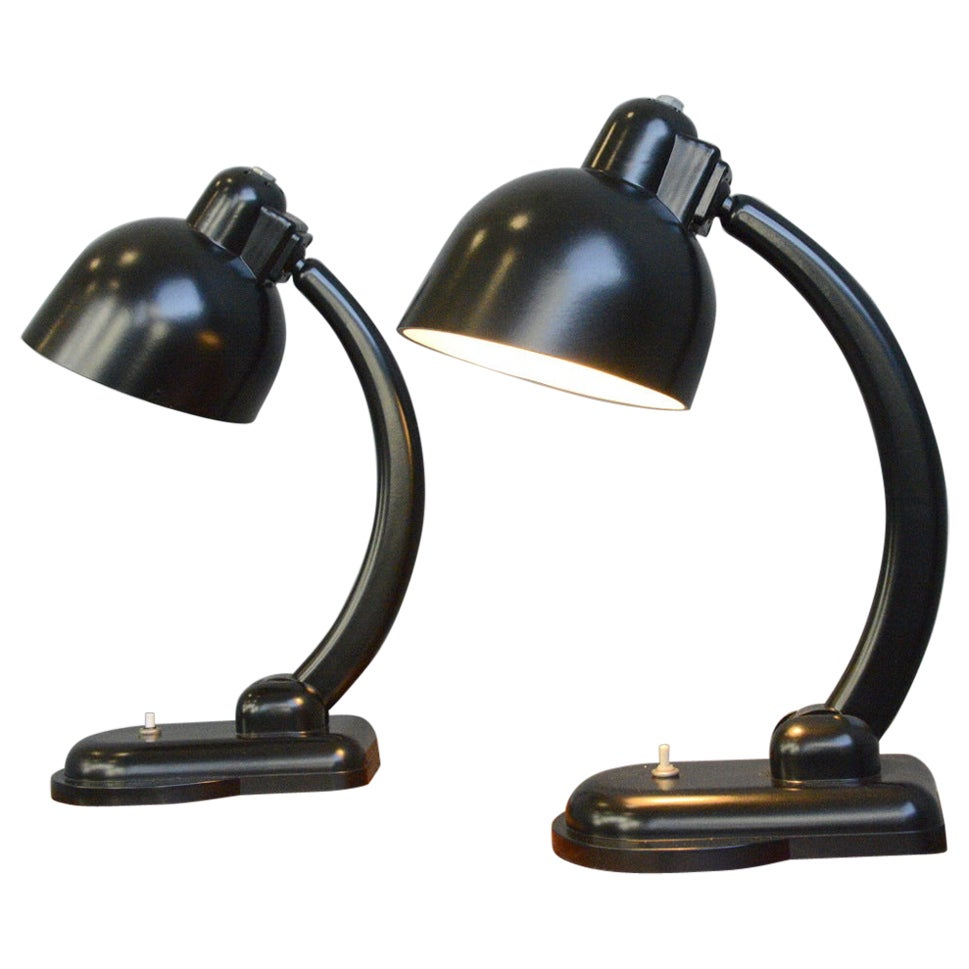 Bakelite Table Lamps, circa 1940s