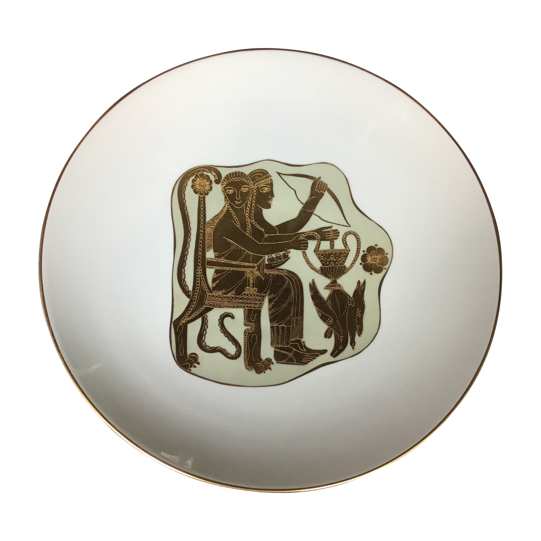 Finzi White Gold Porcelain Centerpiece, 1950, Italy
