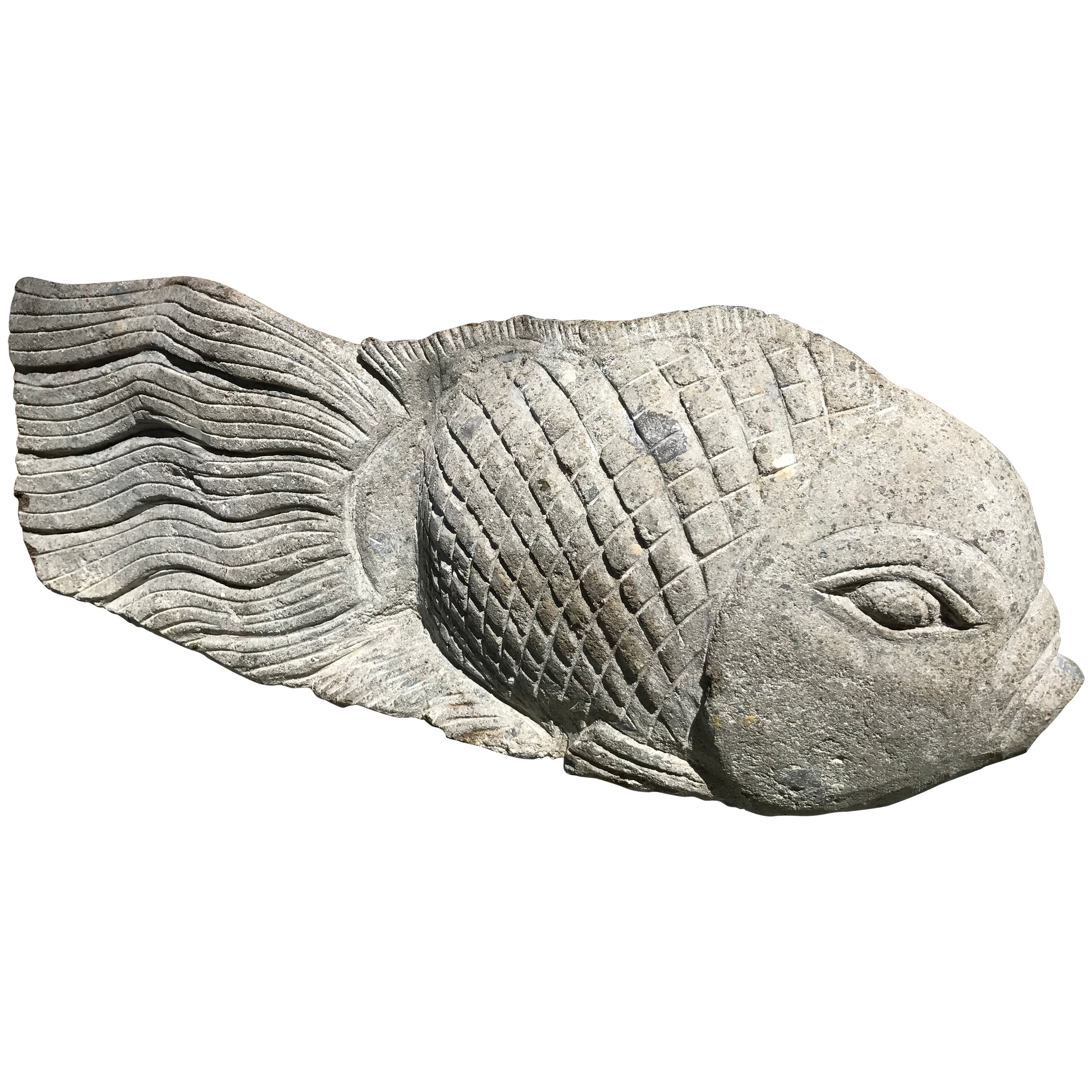 Big Fish Sculpture for Home, Garden, or Nautical Fishermen's Themed Space
