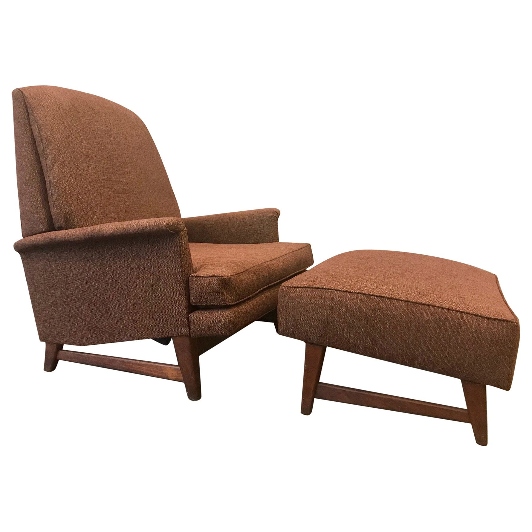Reclining Lounge Chair and Ottoman by Selig
