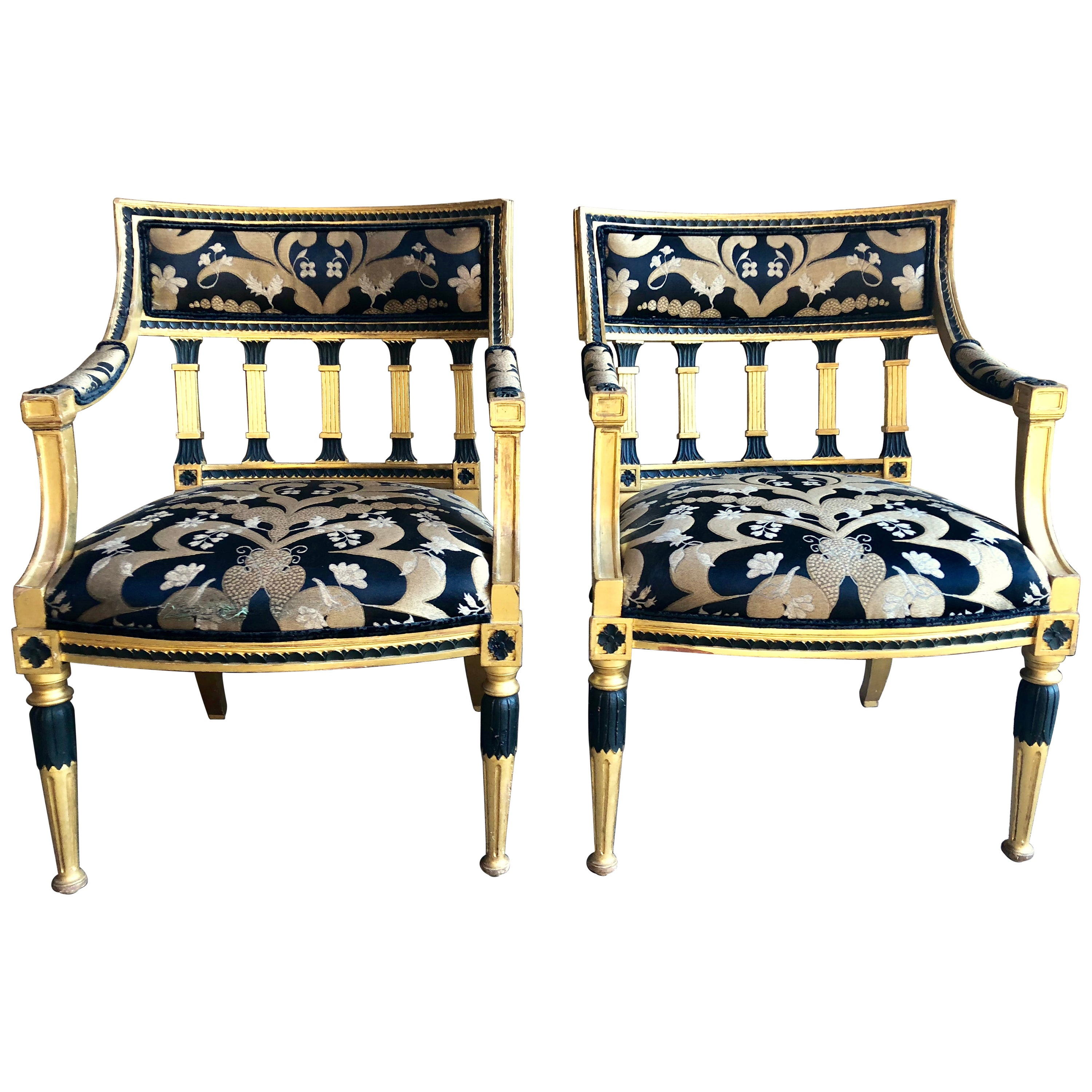Pair of Swedish Neoclassical Armchairs