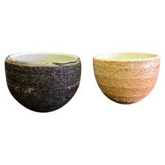 Japanese Handmade Ceramic Pottery Textured Tea Ceremony Cup