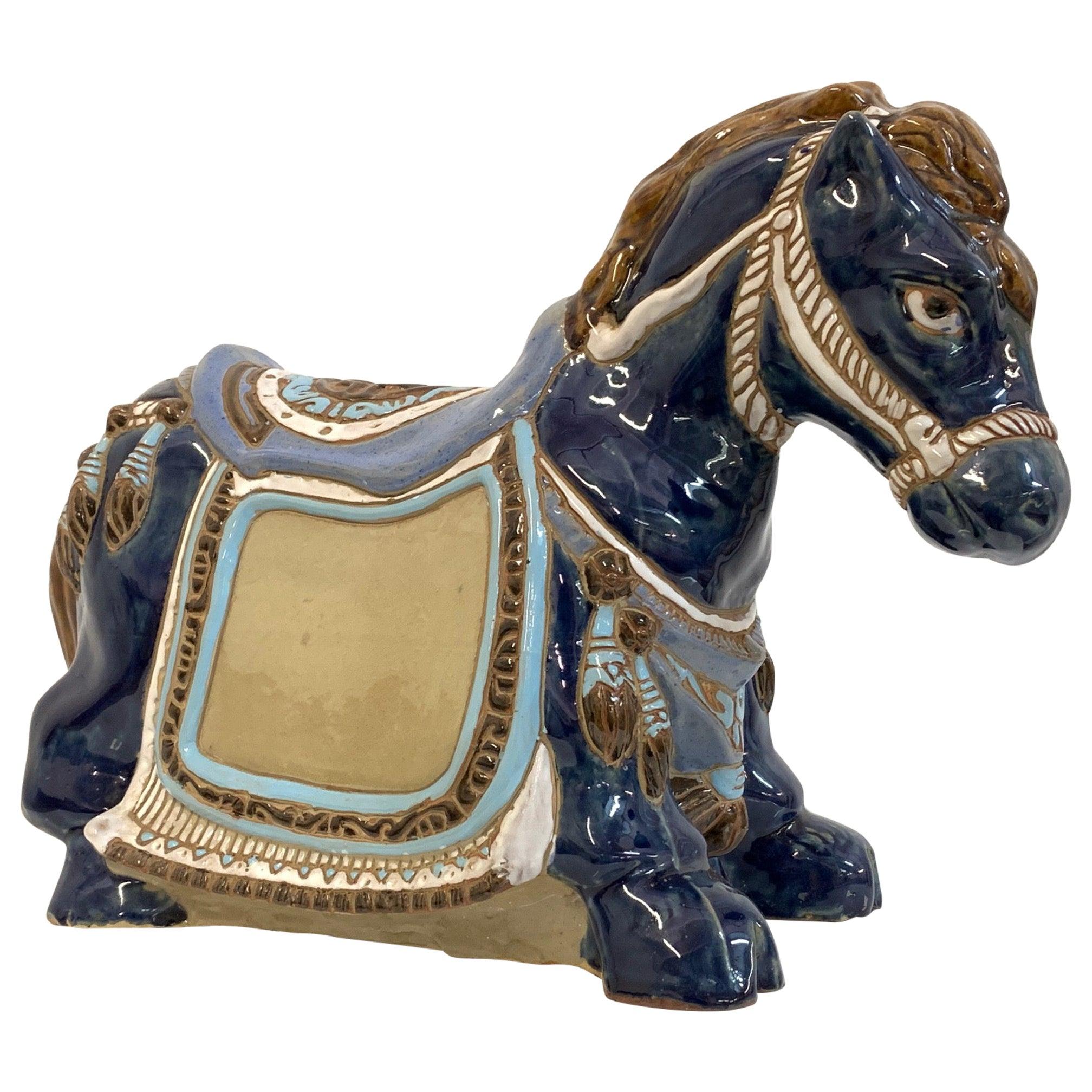 Ceramic Horse Statue Figurine