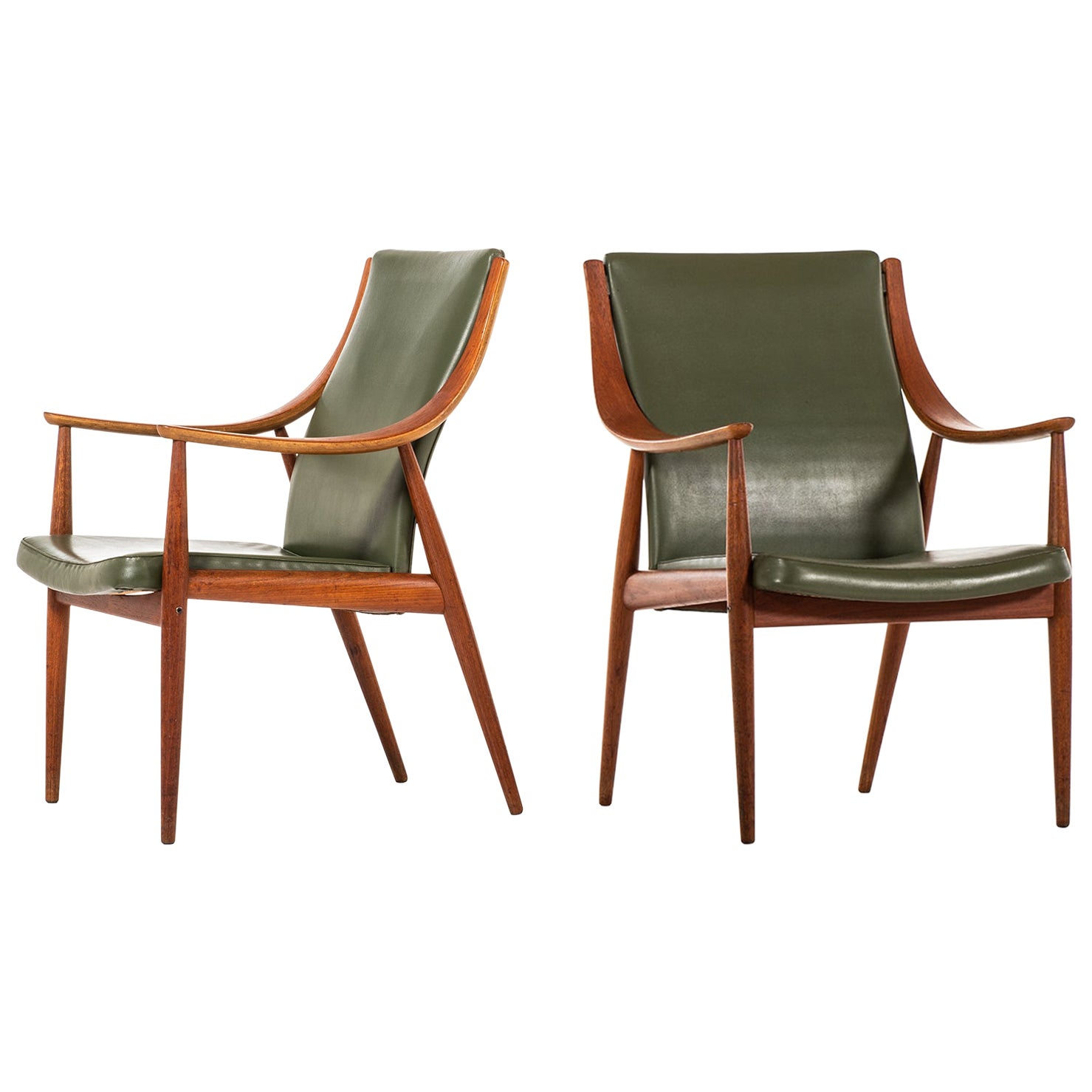 Peter Hvidt & Orla Mølgaard-Nielsen Easy Chairs by France & Son in Denmark