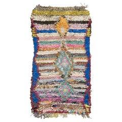 Vintage Moroccan Boujad Tribe Berber Rug