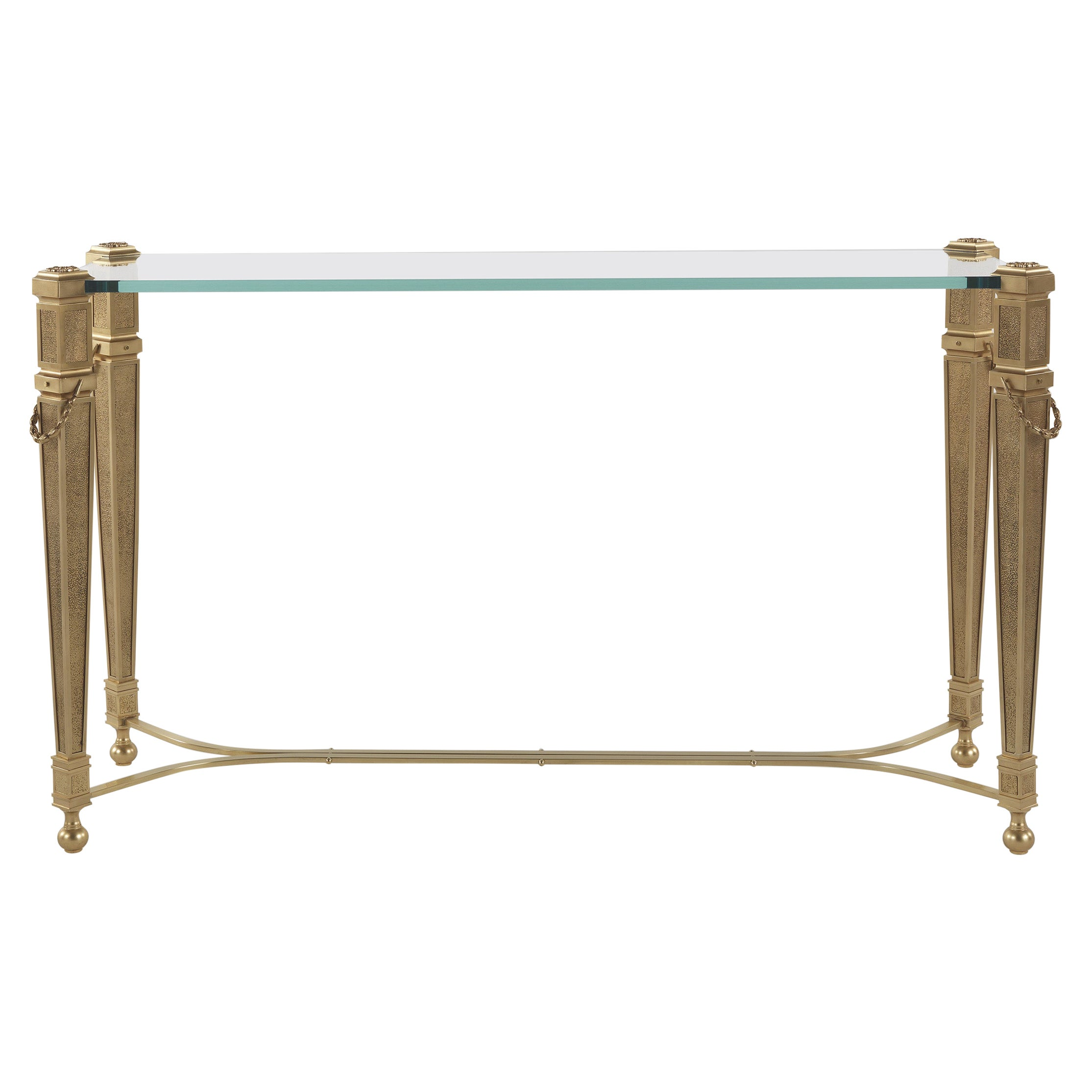 Jumbo Collection Giove Console Table in Brass and Glass