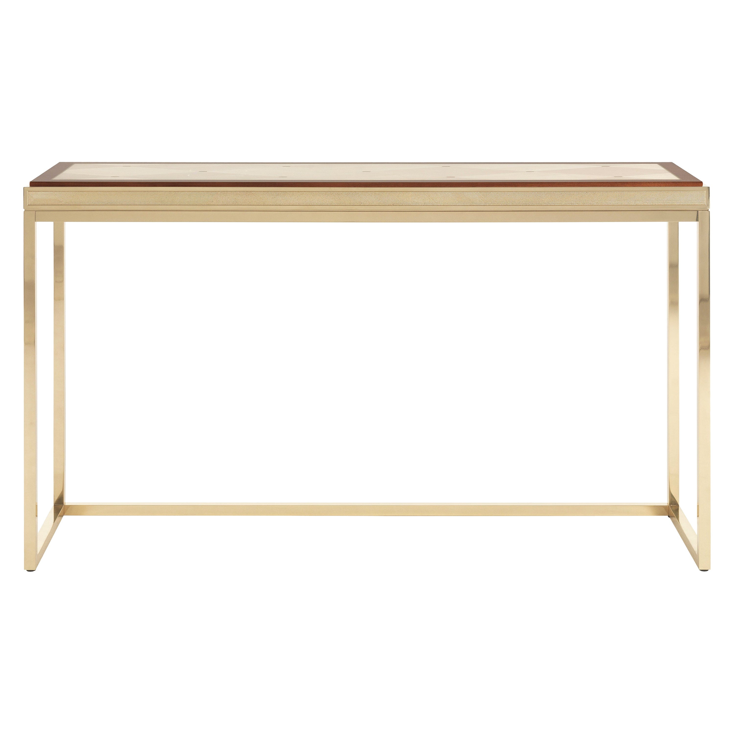 Jumbo Collection Hudson Console Table in Metal and Onyx Top