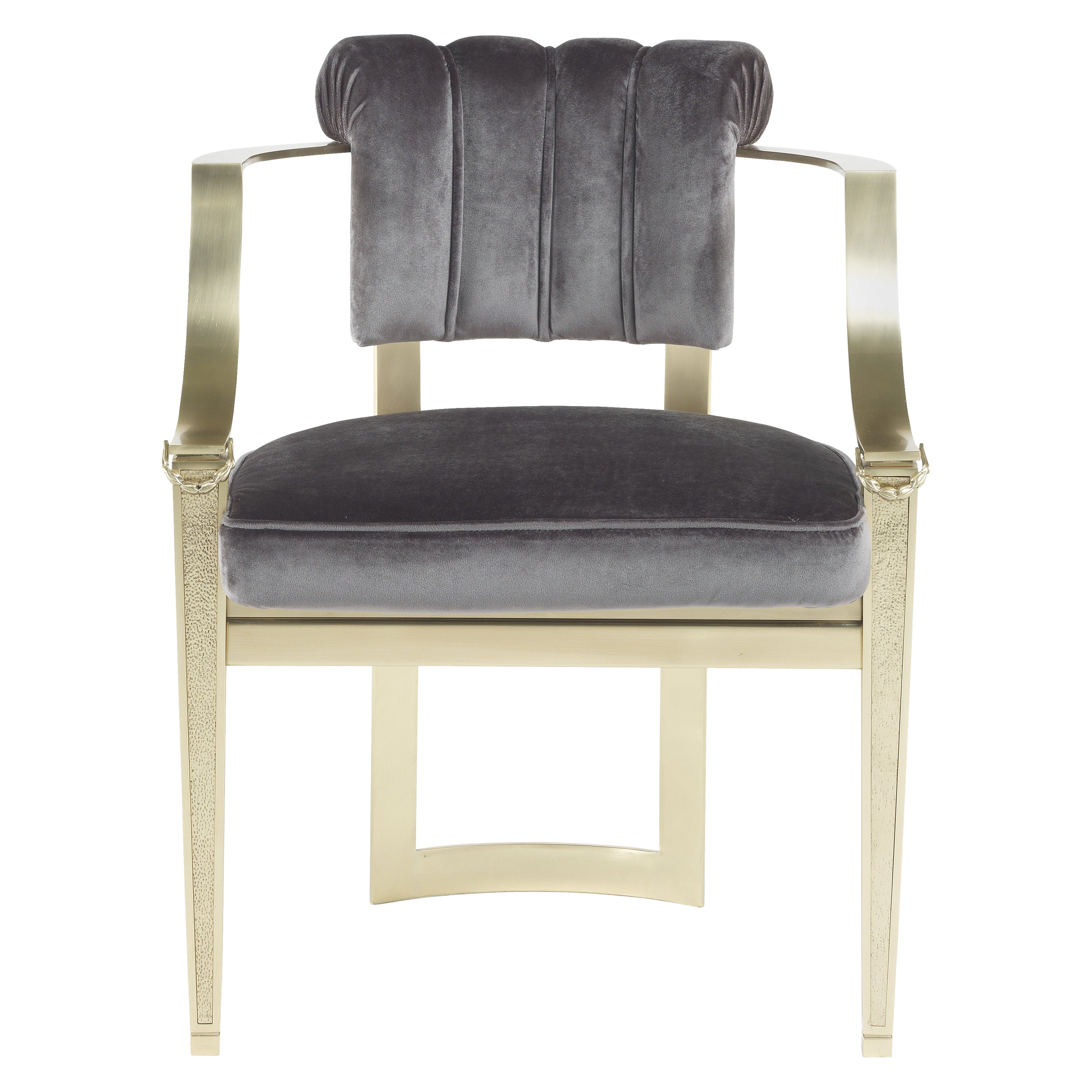 Jumbo Collection Fuji Chair in Brass and Fabric