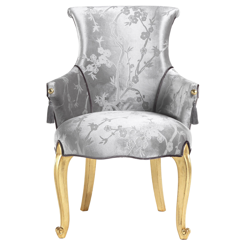 Jumbo Collection Rivoli Chair in Wood and Fabric