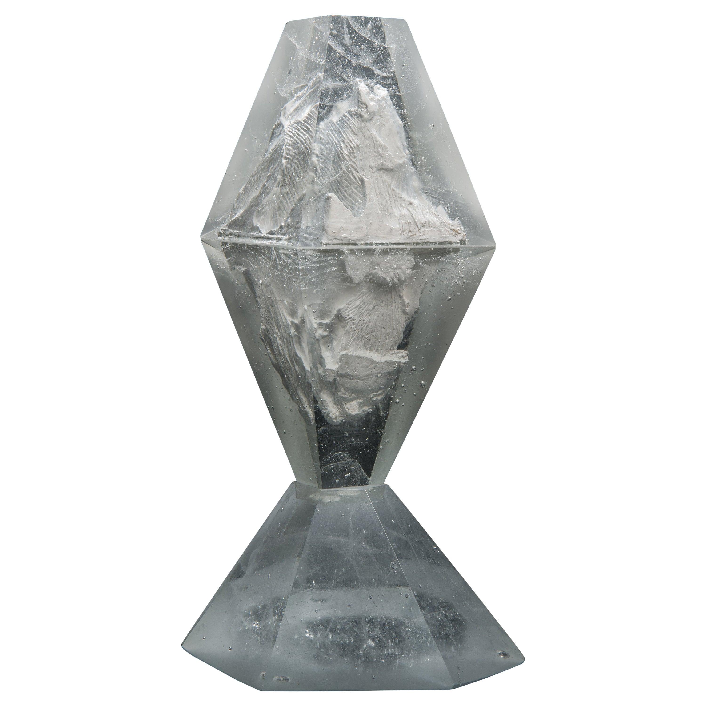 Unique Frost, a Clear Unique Glass Sculpture by Lene Tangen