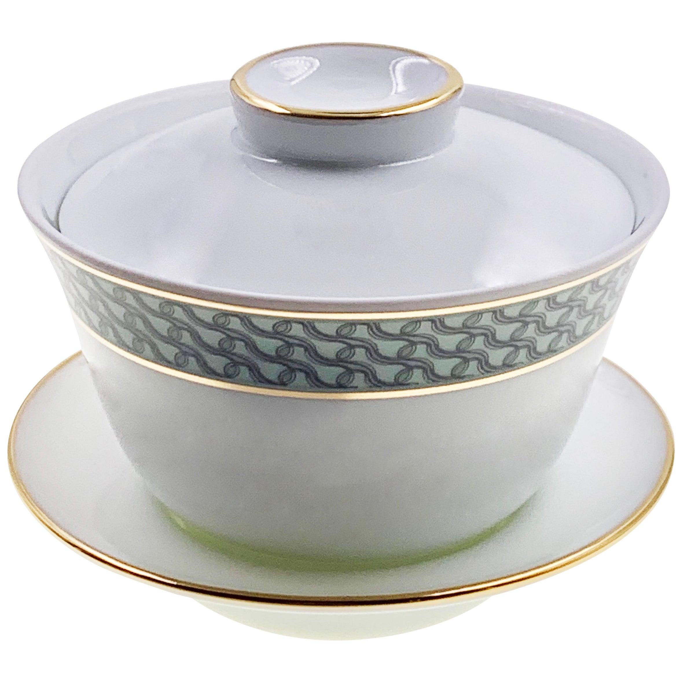 Set Of 2 Chinese Tea Cup Gaiwan Set Mid Century Rhythm André Fu Living Tableware