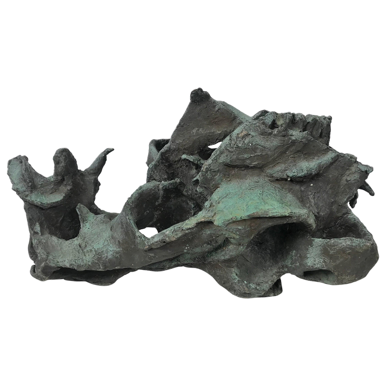 Abstract Brutalist Bronze Sculpture, circa 1960s