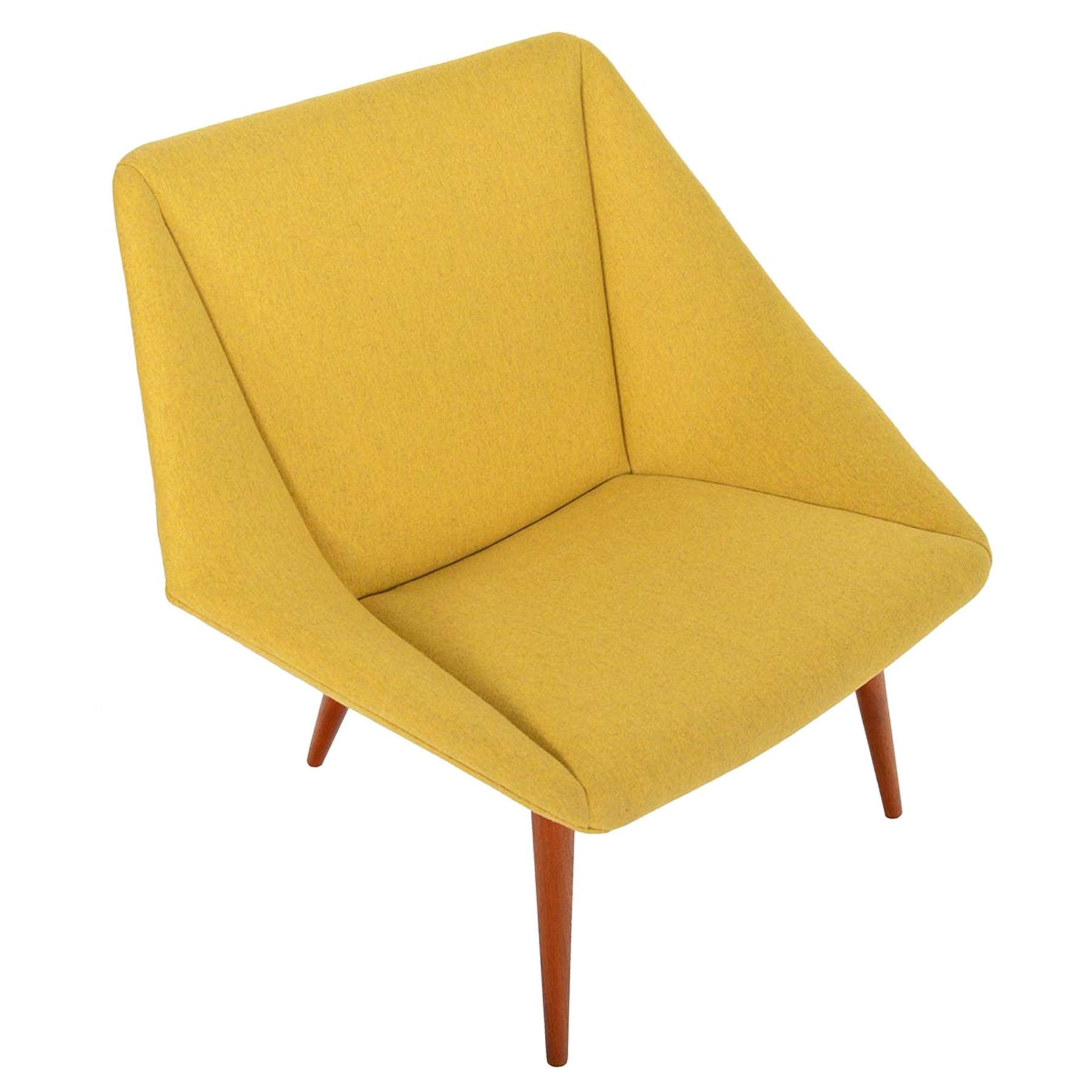 Nanna Ditzel Model 93 Tux Lounge Chair in Goldenrod