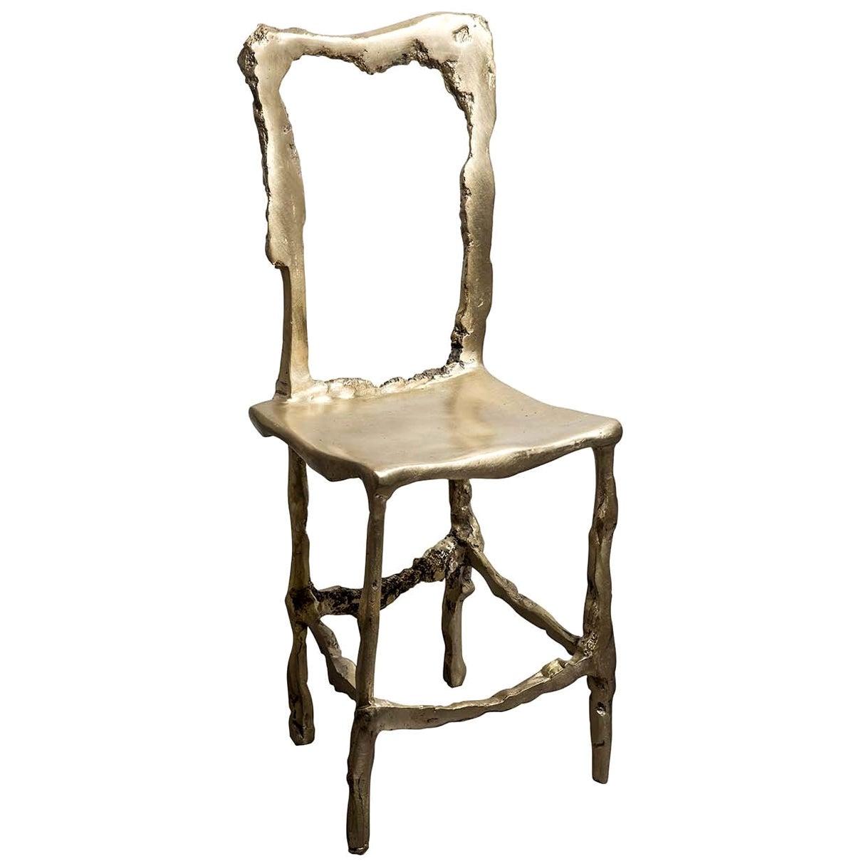 Cast Brass Scultura Decorative Chair