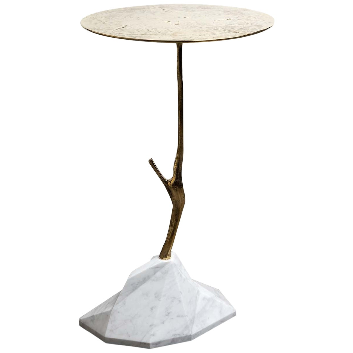 Carrara Marble Scultura Side Table